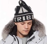 Moose Knuckles - TRIBE INTARSIA TOQUE BLACK