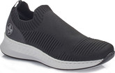 Rieker - BLACK KNIT SLIP ON