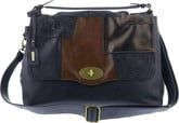 Remonte - PURSE NAVY WITH BROWN TRIM