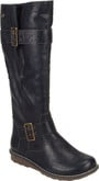Remonte - TALL BLACK BOOT W/ 2 BUCKLES