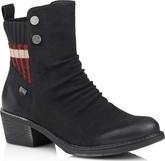 Remonte - BLACK HEELED BOOT WITH RED SWE