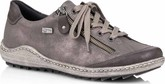 Remonte - GREY LACE SHOE SIDE ZIP