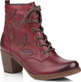 Remonte - RED HEELED BOOTS WITH LEAVES