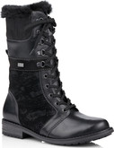 Remonte - TALL BLACK LACE UP WOOL LINED