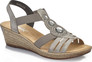 SILVER/GREY WEDGE SANDAL