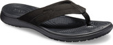Crocs - SANTA CRUZ LEATHER FLIP BLACK