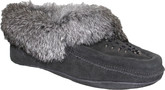 Urban Trail - BEADED MOCC W/FUR TRIM CHARCOA