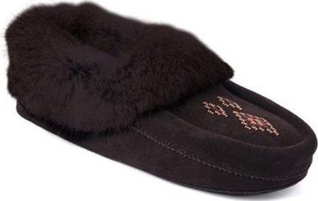 972939782e3 CHARCOAL BEADED SUEDE MOCCASIN
