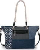 Joanel - TOTE BAG IN DENIM WITH FAUX LE