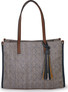 TOTE BAG IN STRAW WITH FAUX LE