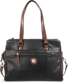 Joanel - TOTE BAG 5 ZIPPERS BLACK BROWN