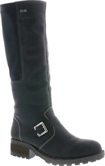 Rieker - Y0481-00 - BLACK TALL SIDE ZIP BOOT