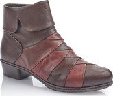 Rieker - BROWN/BURGUNDY SIDE ZIP BOOT