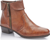 Rieker - TAN SIDE ZIP BOOT