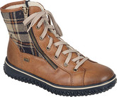 Rieker - TAN PLAID LACE UP BOOT
