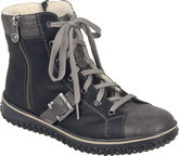 Rieker - BLACK/GREY LACE UP BOOT