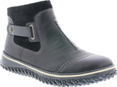 Rieker - BLACK SIDE ZIP BOOT