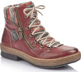 Rieker - RED LACE UP HIKER